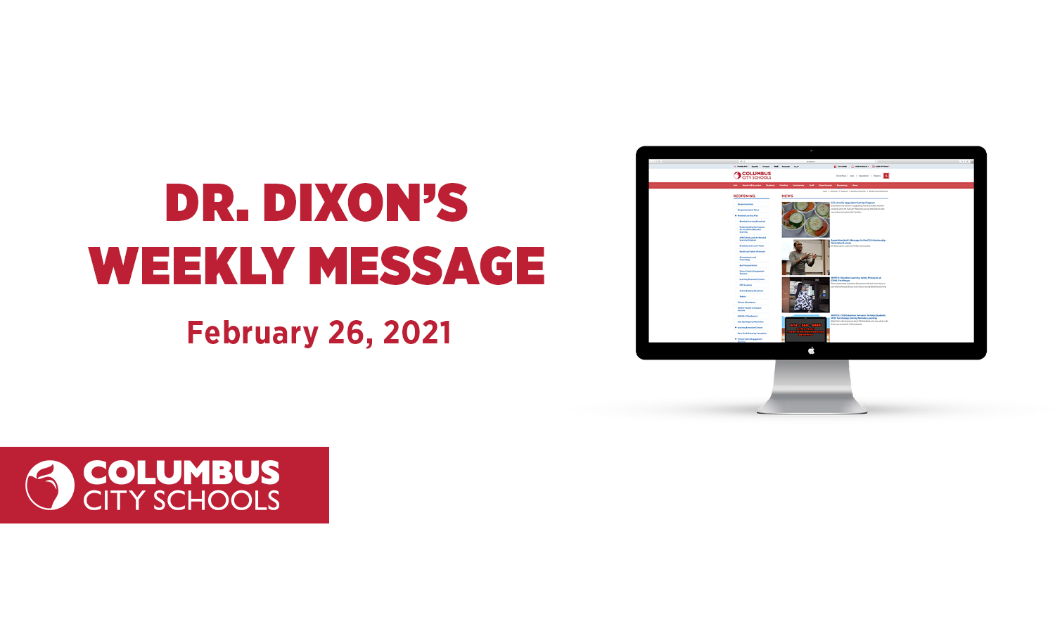 Dr. Dixon Message 2/26