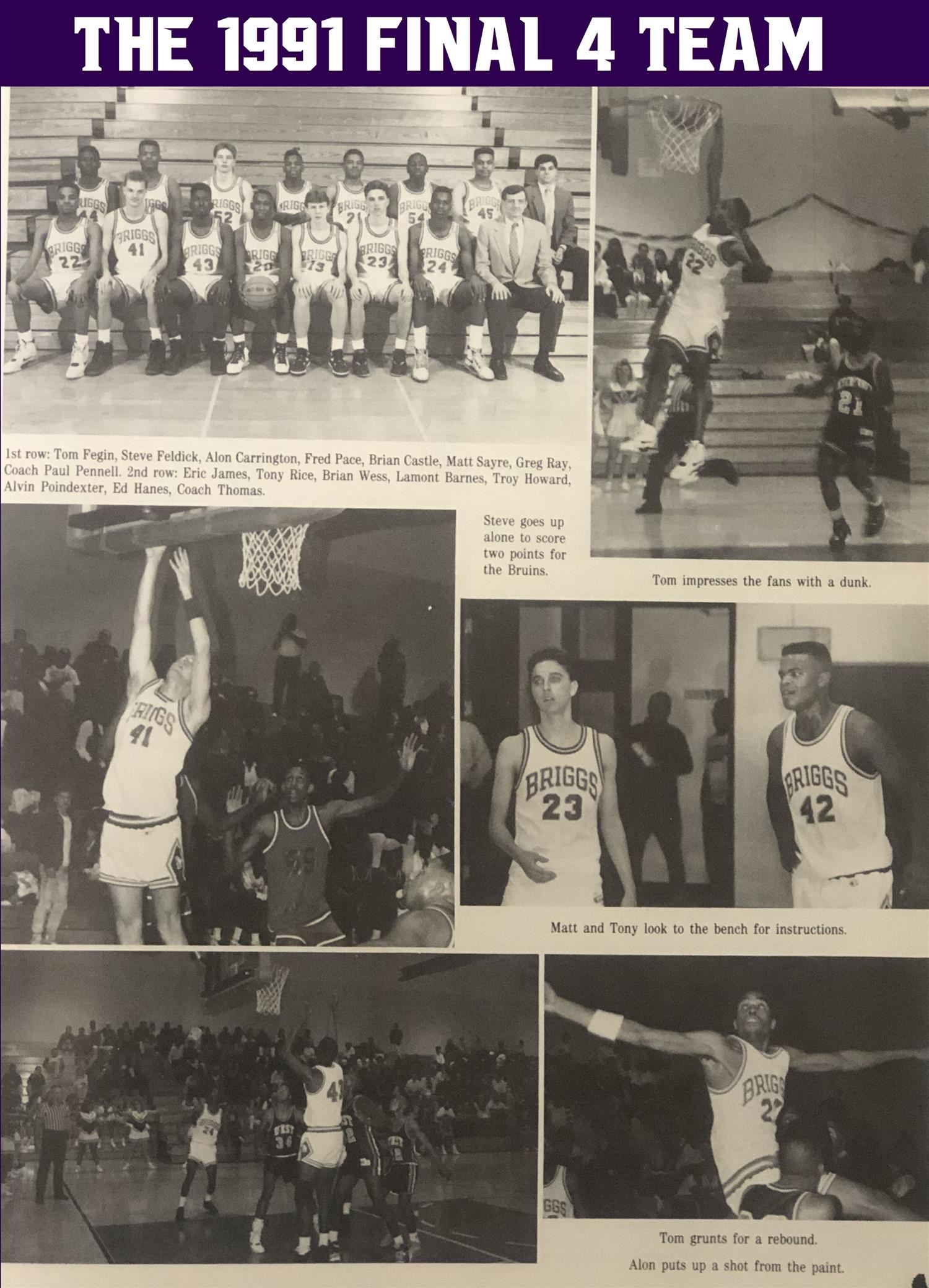 1991 State Final 4 Basketball Team