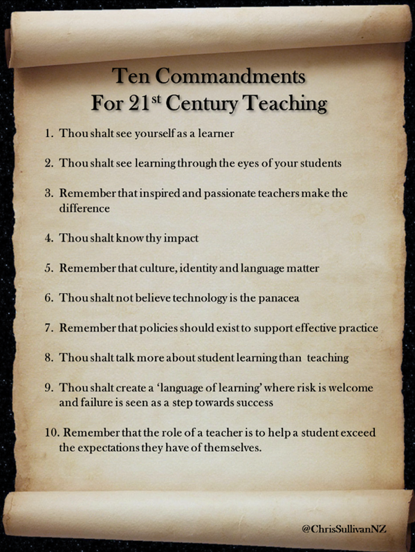 Teacher Commandments