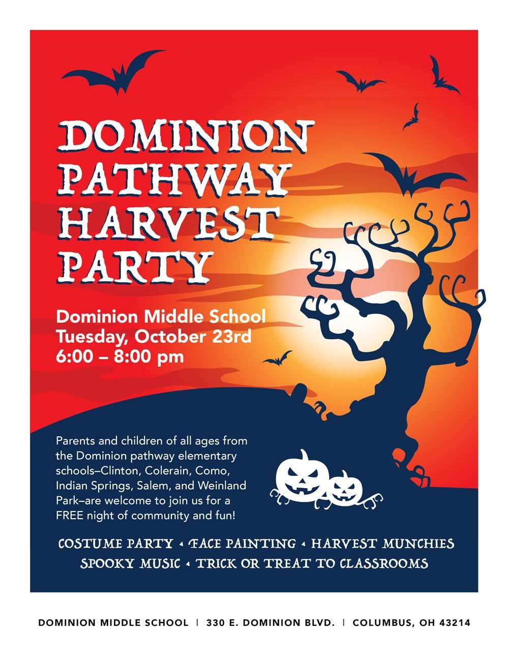 Dominion Middle School Harvest Party