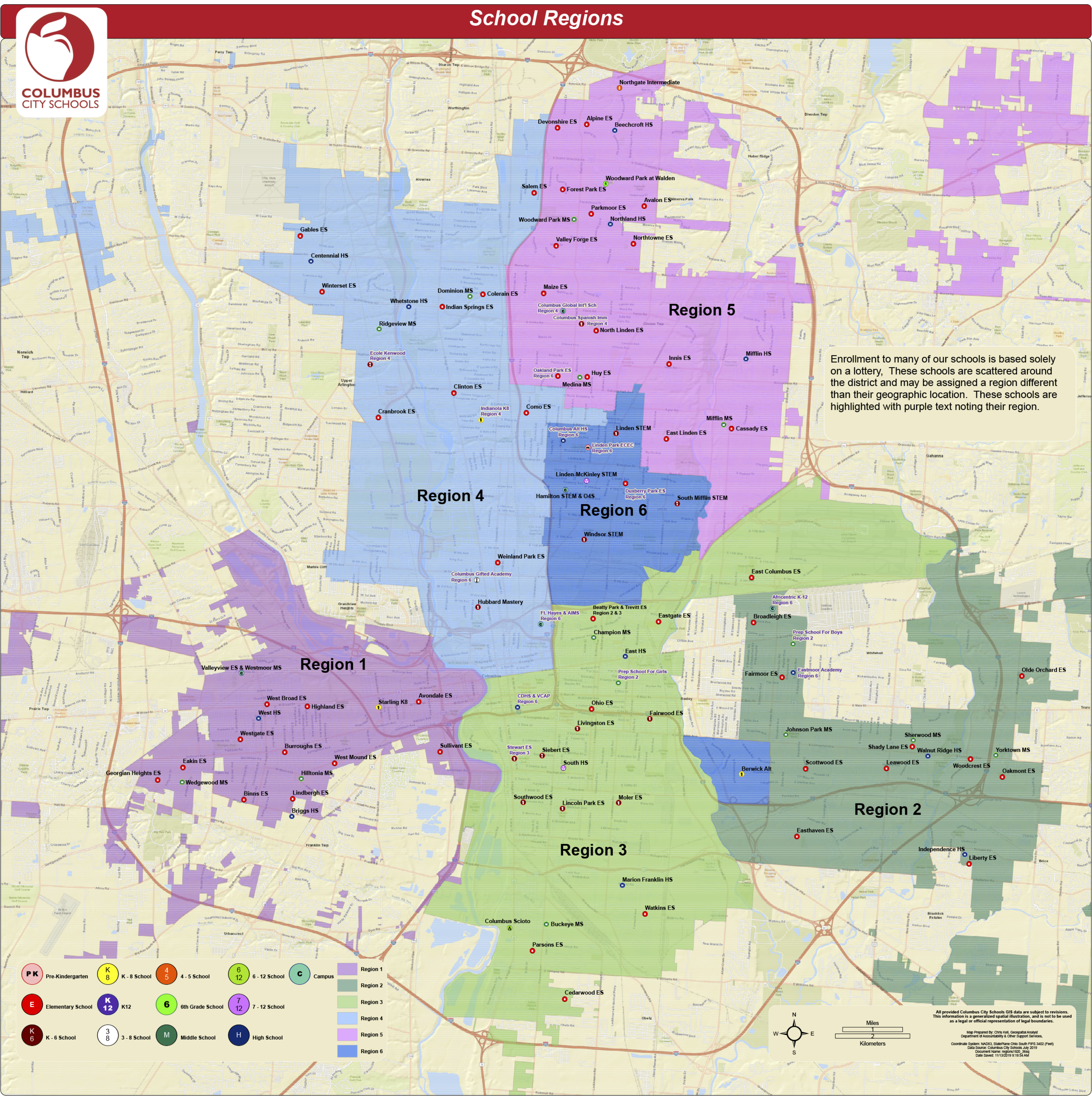 CCS Region Map