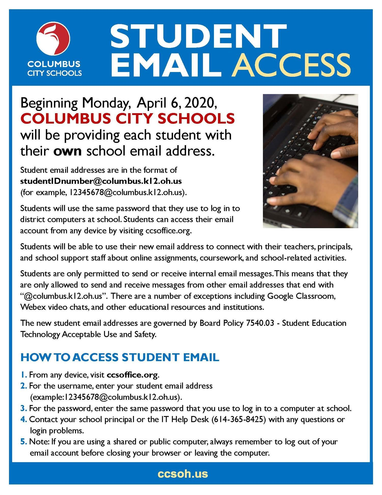 Student Email Access Information