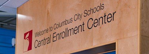 Central Enrollment Sign