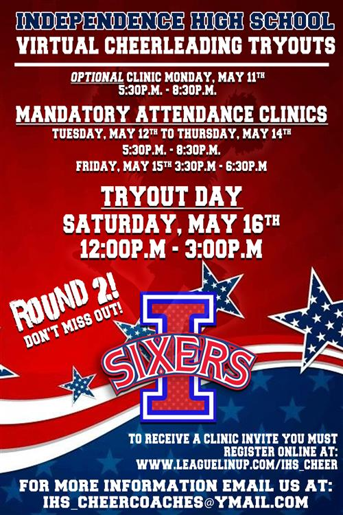 Round 2 Cheerleading Tryout Information