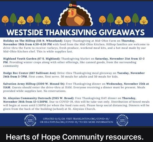 West Side Thanksgiving Giveaways