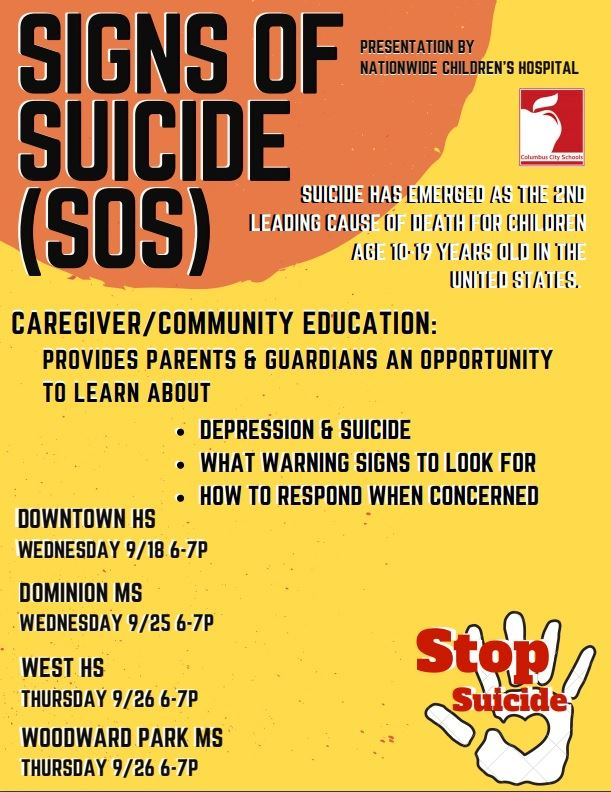 Signs of Suicide Education