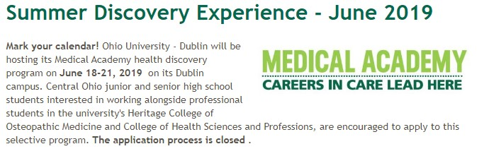 Medical Academy for Soph and Juniors