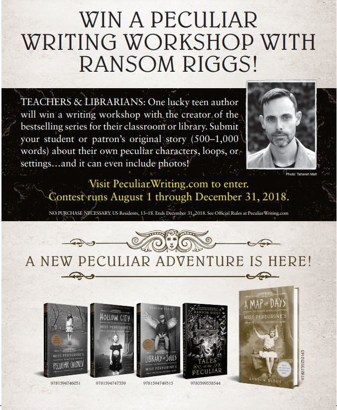 WIN A PECULIAR WRITING WORKSHOP WITH RANSOM RIGGS!